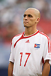 10 June 2007: Cuba's Pedro Adriani Faife. The Panama and Cuba Men's National Teams tied 2-2 at Giants Stadium in East Rutherford, New Jersey in a first round game in the 2007 CONCACAF Gold Cup.