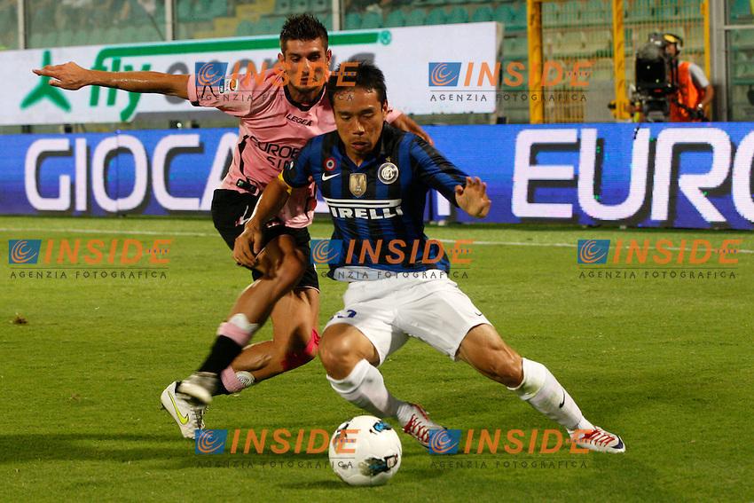 Yuto Nagatomo Inter.Palermo 11/09/2011 Stadio La Favorita.Football Calcio Serie A 2011/12 Palermo vs Inter.Foto Insidefoto Paolo Nucci