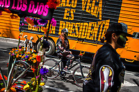 A Mexican girl, dressed as skeleton (Calaca), performs on a bicycle during the Day of the Dead celebrations in Mexico City, Mexico, 29 October 2016. Day of the Dead (Día de Muertos), a syncretic religious holiday combining the death veneration rituals of the ancient Aztec culture with the Catholic practice, is celebrated throughout all Mexico. Based on the belief that the souls of the departed may come back to this world on that day, people gather at the gravesites in cemeteries praying, drinking and playing music, to joyfully remember friends or family members who have died and to support their souls on the spiritual journey.