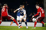 Shaun Maloney of Scotland tussles with Nicolai Jorgensen and Pierre Emile of Denmark during the Vauxhall International Challenge Match match at Hampden Park Stadium. Photo credit should read: Simon Bellis/Sportimage