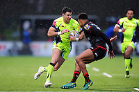 Mike Phillips of Sale Sharks goes on the attack. Aviva Premiership match, between Saracens and Sale Sharks on February 25, 2017 at Allianz Park in London, England. Photo by: Patrick Khachfe / JMP