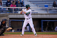 Beloit Snappers right fielder Nick Osborne (21) during a Midwest League game against the Lake County Captains at Pohlman Field on May 6, 2019 in Beloit, Wisconsin. Lake County defeated Beloit 9-1. (Zachary Lucy/Four Seam Images)