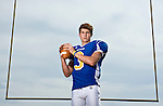 Oxford High quarterback Parker Adamson poses at Bobby Holcomb Field in Oxford, Miss. on Tuesday, September 13, 2011.