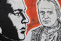 """Roma. """"Wall of Fame"""" murales realizzato dall'artista JB Rock."""
