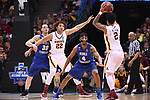 MILWAUKEE, WI - MARCH 16: Minnesota Gophers center Reggie Lynch (22) fights for position against Middle Tennessee Blue Raiders forward Reggie Upshaw (30) during the second half of the 2017 NCAA Men's Basketball Tournament held at BMO Harris Bradley Center on March 16, 2017 in Milwaukee, Wisconsin. (Photo by Jamie Schwaberow/NCAA Photos via Getty Images)