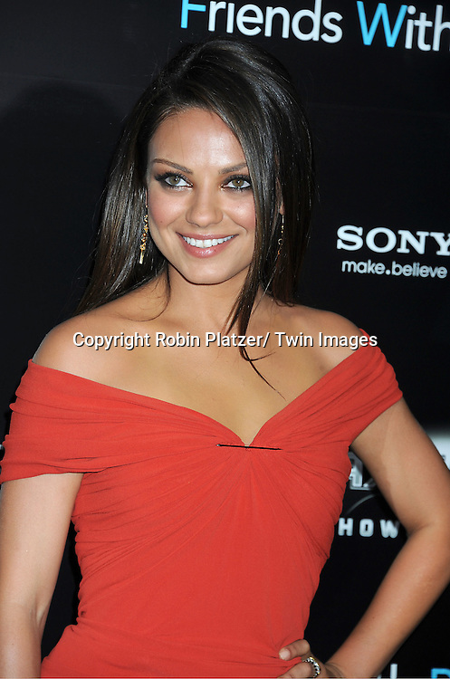 """Mila Kunis attending the New York Premiere of """"Freinds With Benefits"""" on July 18, 2011 at The Ziegfeld Theatre in New York City. The movie stars Justin Timberlake, Mila Kunis, Emma Stone, Patricia Clarkson, Jenna Elfman and Bryan Greenberg."""