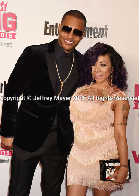 WEST HOLLYWOOD, CA - NOVEMBER 15: Rapper T.I. (L) and singer Tameka Cottle attend VH1 Big In 2015 With Entertainment Weekly Awards at Pacific Design Center on November 15, 2015 in West Hollywood, California.