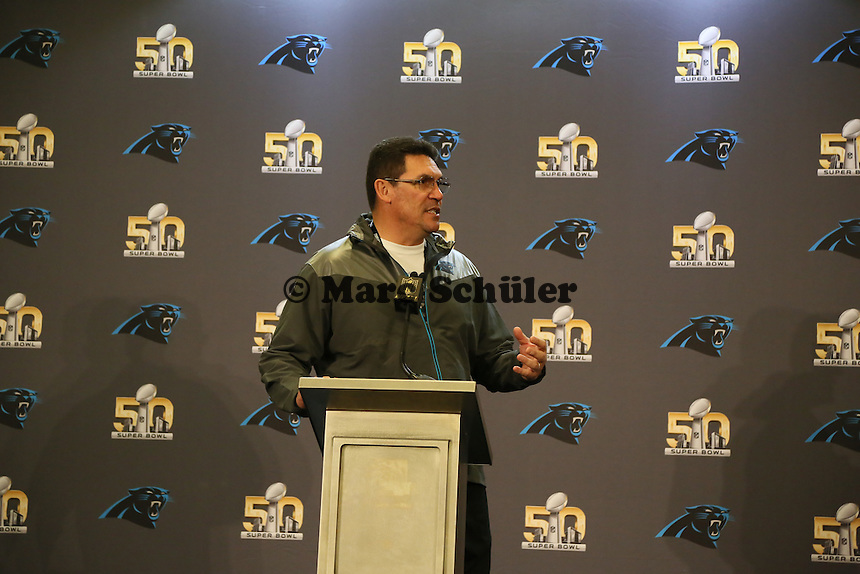 Head Coach Ron Rivera  (Panthers) - Super Bowl 50 Carolina Panthers PK, Convention Center San Jose
