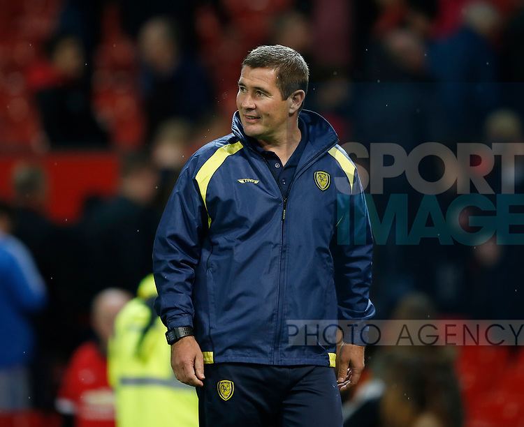 Nigel Clough manager of Burton Albion during the Carabao Cup Third Round match at the Old Trafford Stadium, Manchester. Picture date 20th September 2017. Picture credit should read: Simon Bellis/Sportimage