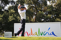 Niclas Fasth (SWE) during the 1st day at the  Andalucía Masters at Club de Golf Valderrama, Sotogrande, Spain. .Picture Fran Caffrey www.golffile.ie