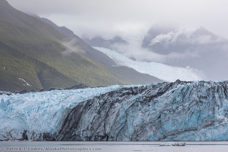 Harvord tidewater glacier in College Fjord, Prince William Sound, Alaska.