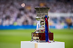 The Supercopa de Espana trophy is seen prior to the Supercopa de Espana Final 2nd Leg match between Real Madrid and FC Barcelona at the Estadio Santiago Bernabeu on 16 August 2017 in Madrid, Spain. Photo by Diego Gonzalez Souto / Power Sport Images