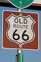 Old route 66 sign marks the old route in Texas.