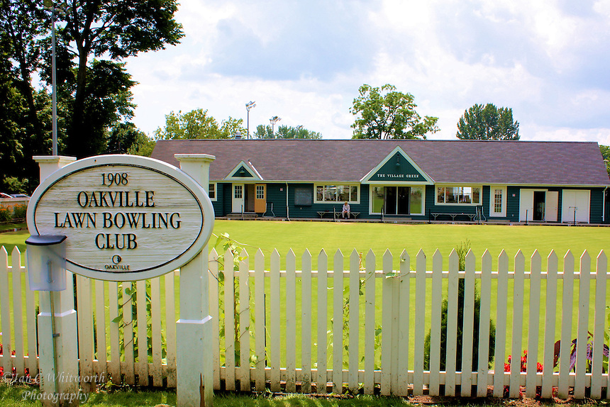 View of the Oakville Lawn Bowling Club in Ontario