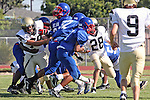 Gardena, CA 09/24/09 - Serra of Gardena Freshmen/Sophomores defeated the Peninsula Panthers 44-0.  In action are Kyle Reilly and Connor McLeod