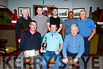 At the Munster Bar Golf Presentation in th ebar on Saturday.<br /> Seated l-r, Maurice O&rsquo;Connor, Vincent O&rsquo;Sullivan (Captain) and Pat O&rsquo;Shea.<br /> Back l-r, Padraig and Shane Doolan, Maurice O&rsquo;Connor Jr, Fabian Lugandu and John O&rsquo;Sullivan.