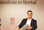 "Madrid,Spain - 16 10 2014- ""politics""-Spanish Socialist Leader Pedro Sanchez during at the 40th anniversary ceremony of the Suresnes Congress (Foto: Guillermo Martinez /Bouza Press)"