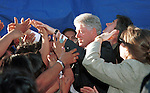 President Bill Clinton shakes hands with people, Fine Art Photography by Ron Bennett, Fine Art, Fine Art photography, Art Photography, Copyright RonBennettPhotography.com ©