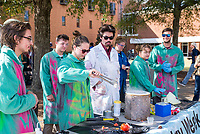 Chemistry demo on the Drill Field to celebrate National Chemistry Week<br />  (photo by Marco Lopez / &copy; Mississippi State University)