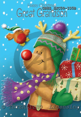 John, CHRISTMAS ANIMALS, paintings, GBHSSXC50-335B,#XA# Weihnachten, Navidad, illustrations, pinturas