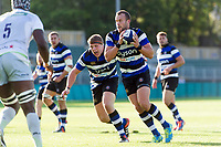 Michael van Vuuren of Bath United in possession. Aviva A-League match, between Bath United and Saracens Storm on September 1, 2017 at the Recreation Ground in Bath, England. Photo by: Patrick Khachfe / Onside Images
