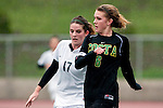 Palos Verdes, CA 01/26/10 - Chelsea LaRue (17) and Kelsey Braunecker (MC #6) in action during the Mira Costa vs Palos Verdes Girls Varsity soccer game at Palos Verdes High School.
