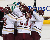 Kaliya Johnson (BC - 6), Andie Anastos (BC - 23), Emily Field (BC - 15) - The Boston College Eagles defeated the Northeastern University Huskies 3-0 on Tuesday, February 11, 2014, to win the 2014 Beanpot championship at Kelley Rink in Conte Forum in Chestnut Hill, Massachusetts.