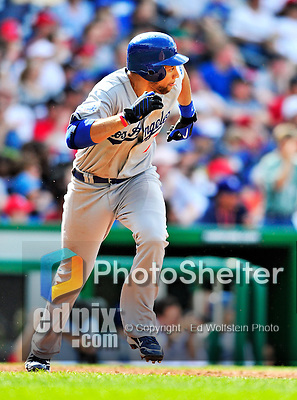 25 April 2010: Los Angeles Dodgers' first baseman James Loney in action against the Washington Nationals at Nationals Park in Washington, DC. The Nationals shut out the Dodgers 1-0 to take the rubber match of their 3-game series. Mandatory Credit: Ed Wolfstein Photo