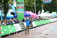Picture by Simon Wilkinson/SWpix.com - 10/09/2017 - Cycling - OVO Energy Tour of Britain - Stage 8 Worcester to Cardiff - final stage<br /> Finish Cardiff - podiums Race Director, Mick Bennett