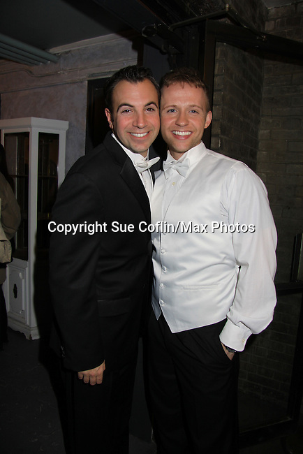 Anthony Wilkinson & Marty Thomas star in My Big Gay Italian Wedding on March 18, 2011 (also 3-17- & 3-20) at St. Luke's Theatre, New York City, New York. (Photo by Sue Coflin/Max Photos)