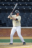 Will Craig (22) of the Wake Forest Demon Deacons at bat against the Marshall Thundering Herd at Wake Forest Baseball Park on February 17, 2014 in Winston-Salem, North Carolina.  The Demon Deacons defeated the Thundering Herd 4-3.  (Brian Westerholt/Four Seam Images)