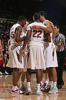 STANFORD, CA - JANUARY 9:  Jarrett Mann, Jeremy Green, Drew Shiller and Landry Fields of the Stanford Cardinal during Stanford's 70-59 win over the UCLA Bruins on January 9, 2009 at Maples Pavilion in Stanford, California.