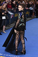 "LONDON, UK. April 24, 2019: Lily Collins arriving for the ""Extremely Wicked, Shockingly Evil And Vile"" premiere at the Curzon Mayfair, London.<br /> Picture: Steve Vas/Featureflash"