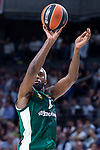 Panathinaikos Chris Singleton during Turkish Airlines Euroleague Quarter Finals 4th match between Real Madrid and Panathinaikos at Wizink Center in Madrid, Spain. April 27, 2018. (ALTERPHOTOS/Borja B.Hojas)