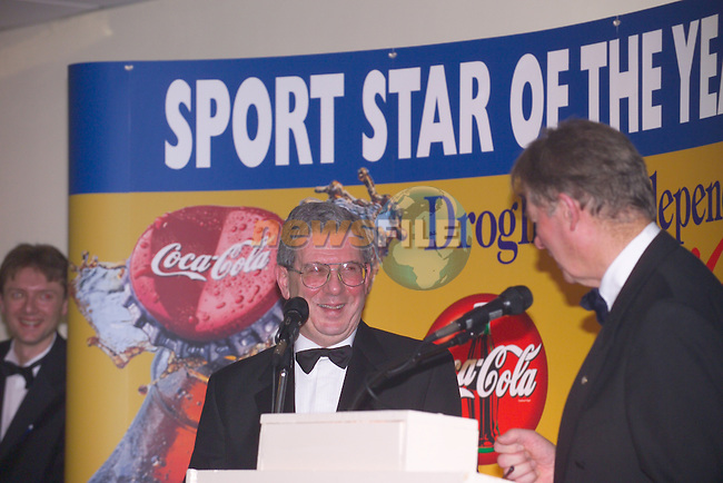 Sport Star of the Year 2003 Sponsored by Drogheda Concentrates in Association with the Boyne Valley Country Club..June Winner mark McHugh Collected by Dad Reggie.Photo Fran Caffrey/Newsfile.ie...This Picture has been sent to you by Newsfile Ltd..The Studio,.Millmount Abbey,.Drogheda,.Co. Meath,.Ireland..Tel: +353(0)41-9871240.Fax: +353(0)41-9871260.ISDN: +353(0)41-9871010.www.newsfile.ie..general email: pictures@newsfile.ie
