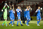 Hamilton Accies v St Johnstone&hellip;09.12.17&hellip;  New Douglas Park&hellip;  SPFL<br />Zander Clark, Richie Foster, Joe Shaughnessy, Liam Craig and David Wotherspoon applaud the fans at full time<br />Picture by Graeme Hart. <br />Copyright Perthshire Picture Agency<br />Tel: 01738 623350  Mobile: 07990 594431