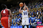 DURHAM, NC - NOVEMBER 30: Duke's Rebecca Greenwell (23). The Duke University Blue Devils hosted the Ohio State Buckeyes on November 30, 2017 at Cameron Indoor Stadium in Durham, NC in a Division I women's college basketball game, and as part of the annual ACC-Big Ten Challenge. Duke won the game 69-60.