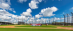 22 February 2019: Member of the Washington Nationals gather during a Spring Training workout at the Ballpark of the Palm Beaches in West Palm Beach, Florida. Mandatory Credit: Ed Wolfstein Photo *** RAW (NEF) Image File Available ***