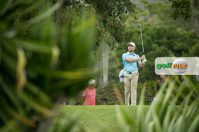 Trevor Fisher JNR (RSA) during the 3rd round of the AfrAsia Bank Mauritius Open, Four Seasons Golf Club Mauritius at Anahita, Beau Champ, Mauritius. 01/12/2018<br /> Picture: Golffile | Mark Sampson<br /> <br /> <br /> All photo usage must carry mandatory copyright credit (© Golffile | Mark Sampson)