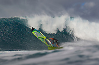 Francisco Porcella at the 6th and final stop of the 2012 American Windsurfing Tour (AWT), in Ho'okipa Beach Park (Maui, Hawaii, USA)