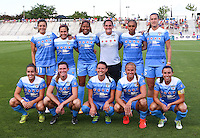 Boyds, MD - Saturday July 09, 2016: Chicago Red Stars starting eleven prior to a regular season National Women's Soccer League (NWSL) match between the Washington Spirit and the Chicago Red Stars at Maureen Hendricks Field, Maryland SoccerPlex.