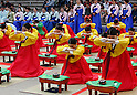Students attend a traditional coming-of-age celebration in Seoul