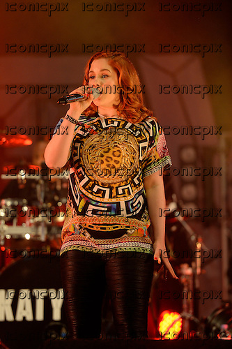 KATY B - performing live on the In New Music We Trust Stage on Day Two of the BBC RADIO ONE BIG WEEKEND on Glasgow Green in Glasgow Scotland UK - 24 May 2014.  Photo credit: George Chin/IconicPix
