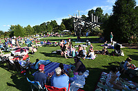 NWA Democrat-Gazette/J.T. WAMPLER Several hundred people occupy the lawn during the annual Firefly Fling Saturday July 15, 2017 at the Botanical Garden of the Ozarks. The event also included garden fairies, food trucks, glowing games, fairy house building, fire dancing, nature stations and puppet performances.