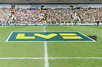 LV= pitch branding during the LV= Cup Final match between Leicester Tigers and Northampton Saints at Sixways Stadium, Worcester on Sunday 18 March 2012 (Photo by Rob Munro, Fotosports International)