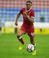 Trent Alexander-Arnold of Liverpool during the pre season friendly match between Wigan Athletic and Liverpool at the DW Stadium, Wigan, England on 14 July 2017. Photo by Andy Rowland.