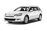 2015 Citroen C5-Tourer-XTR Hydractive-Exclusive 5 Door wagon Angular Front stock photos of front three quarter view
