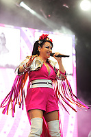 LONDON, ENGLAND - JULY 10: Lisa Scott-Lee of 'Steps' performing at Kew the Music, Kew Gardens on July 10, 2018 in London, England.<br /> CAP/MAR<br /> &copy;MAR/Capital Pictures
