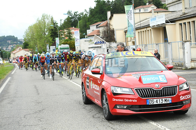 The start of Stage 1 of the 64th edition of the Criterium du Dauphine 2017, running 170.5km from Saint Etienne to Saint Etienne, France. 4th June 2017. <br /> Picture: ASO/A.Broadway | Cyclefile<br /> <br /> <br /> All photos usage must carry mandatory copyright credit (&copy; Cyclefile | ASO/A.Broadway)