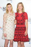 "Laura Carmichael and Rosamund Pike<br /> at the London Film Festival photocall for the opening film, ""A United Kingdom"", Mayfair HotelLondon.<br /> <br /> <br /> ©Ash Knotek  D3159  05/10/2016"